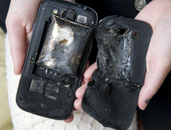 exploded mobile phone