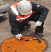 TK-Siaps manhole safety system is easy to install